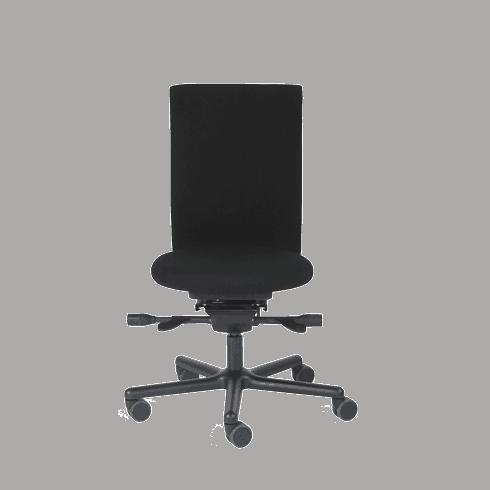 LO150 kontorstol med rundt sæde til lave personer