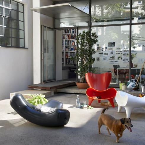 Orgone og Bucky stol designet af Marc Newson