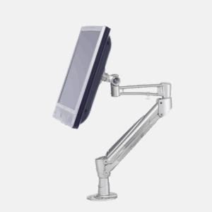 Skærmarm til fladskærm for at undgå belastning af nakke og skulder. Ergoforma.