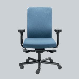 LO 155VK stol med skjult udskæring i ryglæn kyfose. Ergoforma.