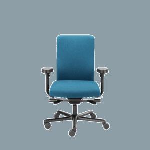 LO 155PE kontorstol med trykaflastende sæde med pocket fjedre. Ergoforma.