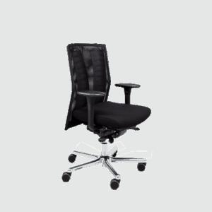 LO 250N kontorstol med netryg, god hvis du nemt får det for varmt. Ergoforma.