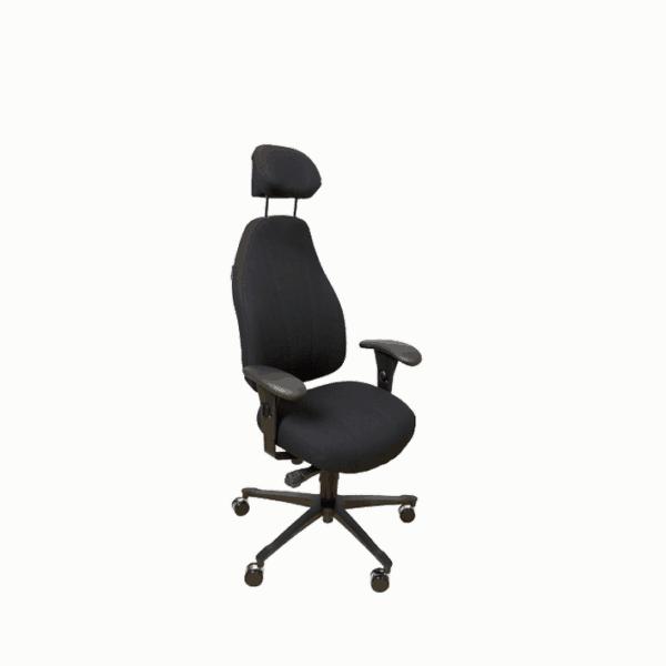 Malmstol 7000 med høj ryg og god støtte af ryggen. Ergoforma.
