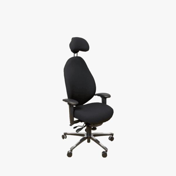 Malmstolen R4 med høj ryg med sublim ergonomi. Ergoforma.