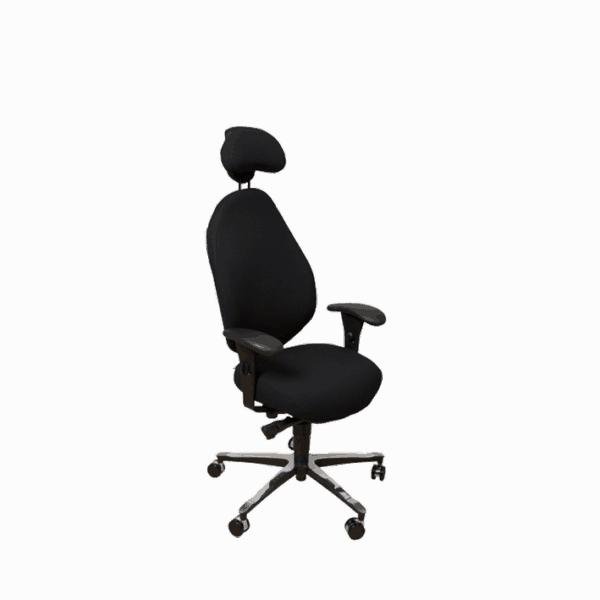 Malmstolen R7 med høj ryg og nakkestøtte. Ergoforma.