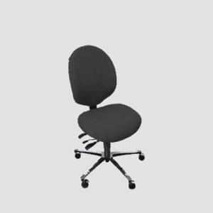 Malmstolen R4 med medium ryghøjde - perfekt til kvinder. Ergoforma.