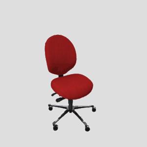 Malmstol R7 med medium ryghøjde - meget ergonomi i en lille stol. Ergoforma.