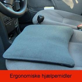 Balancemåtter, siddepudder og andre ergonomiske hjælpemidler