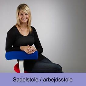 Stort udvalg af sadel og arbejdsstole, der er gode for ryggen