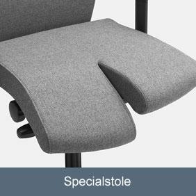Specialstole, hvis du har svært ved at sidde på en almindelig kontorstol