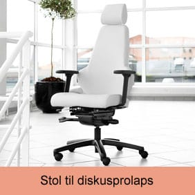 Ergositter Sense stolen hvis du har en diskusprolaps