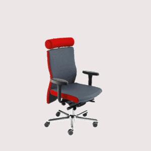 LO 350 stolen med nakkestøtte. Ergoforma.