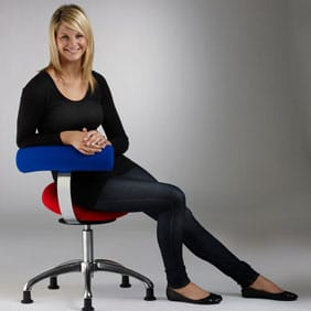 Bicom stolen til kontorarbejdsplads, klinikken eller institutionen. Meget anvendelig stol med bevægelse i sædet