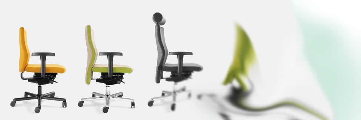 Kontorstole med bevægelse og ergonomi
